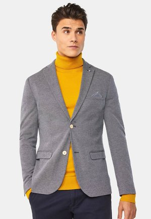 WE FASHION HERREN-SKINNY-FIT-SAKKO MIT MUSTER - Blazer jacket - grey