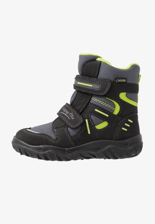 HUSKY - Winter boots - schwarz/grün