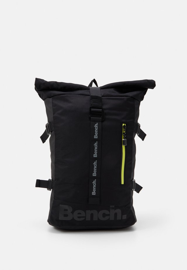 ROLL TOP BACKPACK - Rucksack - black