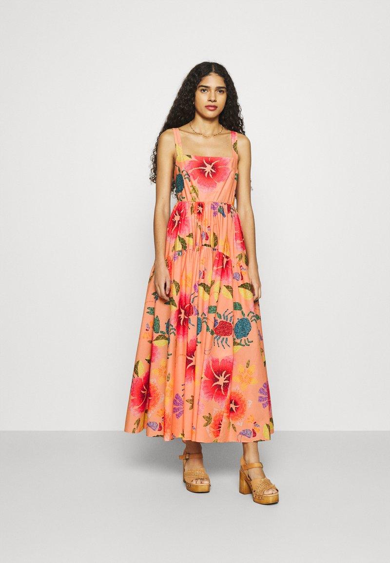Farm Rio - FLORAL SEA MIDI DRESS - Day dress - multi coloured