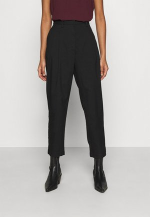 TYRA TROUSERS - Tygbyxor - black