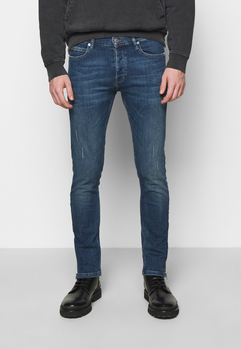 The Kooples - WITH ZIPPER DETAIL ON THE BOTTOM - Jean slim - blue