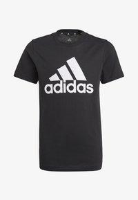 adidas Performance - UNISEX - Printtipaita - black/white - 0