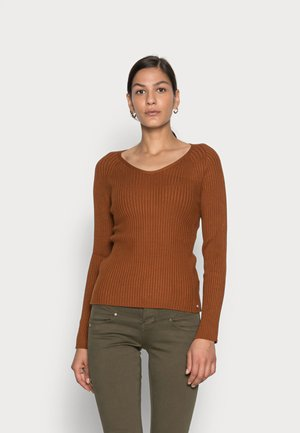 Pullover - amber brown