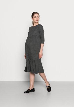 MLMARGO 3/4 MIDI DRESS - Jersey dress - dark grey