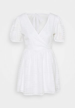 APPLIQUE MINI DRESS - Denní šaty - ivory
