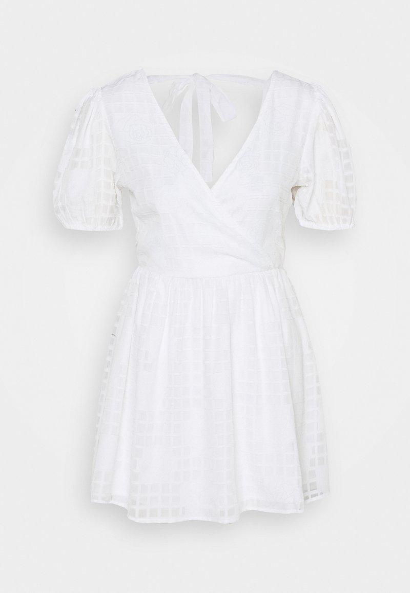 Miss Selfridge Petite - APPLIQUE MINI DRESS - Korte jurk - ivory