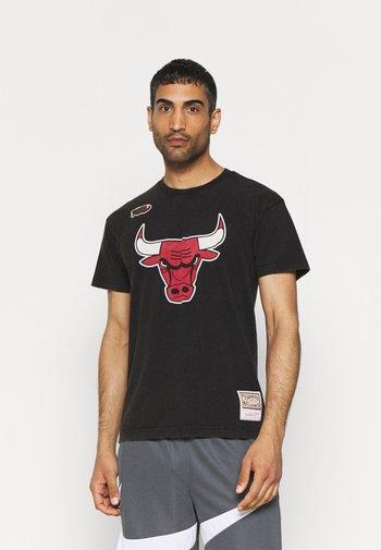 NBA CHICAGO BULLS WORN LOGO TEE - Club wear - black
