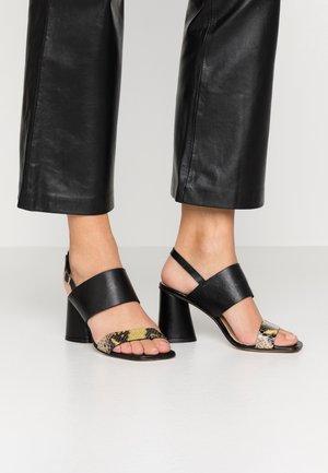 MAIORCA - High heeled sandals - nero/giallo