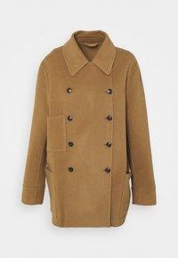 CLOSED - YANA SHORT DOUBLE BREASTED - Short coat - dark tan - 0