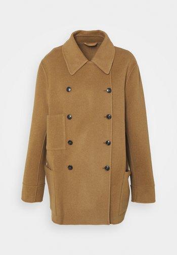 YANA SHORT DOUBLE BREASTED - Short coat - dark tan