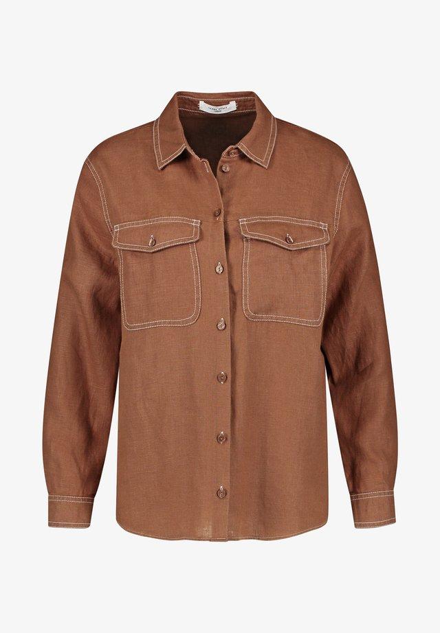 1/1 ARM - Button-down blouse - tobacco