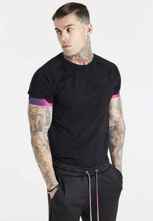 EXPOSE FADE RAGLAN GYM TEE - Basic T-shirt - black