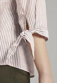 TOM TAILOR - Blouse - brown white vertical stripe - 4