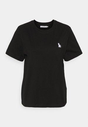 MYSEN CAT - Jednoduché triko - black