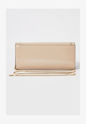 BEIGE RI EMBOSSED CLUTCH BAG - Clutches - cream
