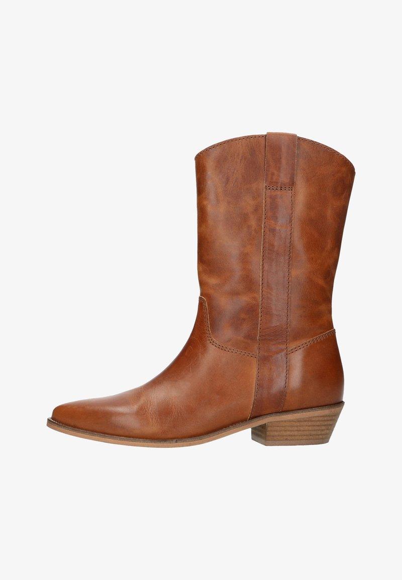 Manfield - Cowboy/biker ankle boot - cognac
