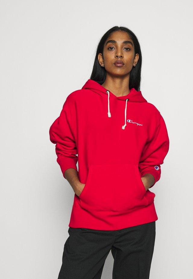 HOODED - Bluza z kapturem - red
