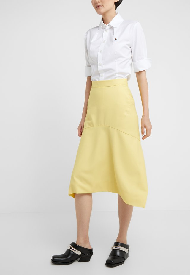 TAILORED PHOENIX SKIRT - Falda acampanada - yellow