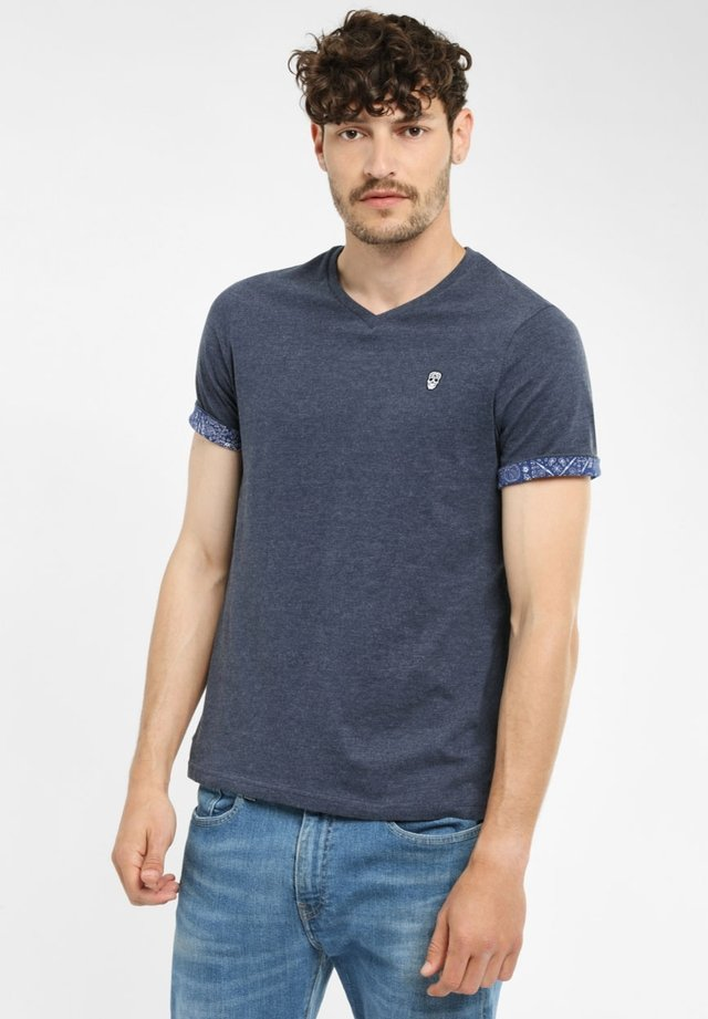 VOURTANOS - T-shirt basic - blue