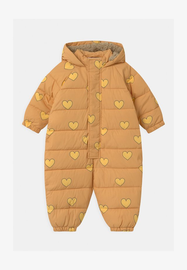 HEARTS PADDED ONE-PIECE - Tuta da neve - camel/yellow