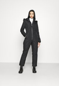 Missguided - SKI QUILTED CORSET SNOW - Overal - black - 1