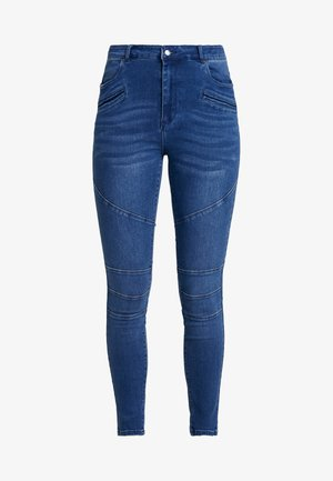 VMSOPHIA BIKER PANT - Jeans Skinny Fit - dark blue denim