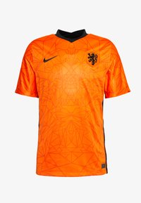 NIEDERLANDE KNVB HOME - Pelipaita - safety orange/black