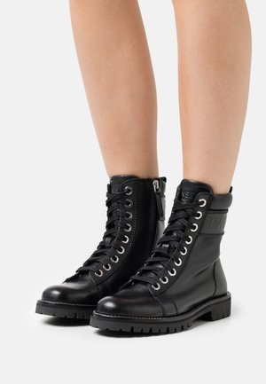 ANFIBIO LOGATO - Lace-up ankle boots - nero