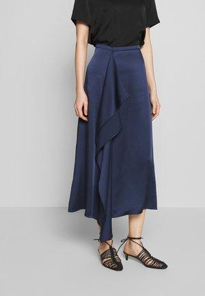ROWERA - Áčková sukně - open blue