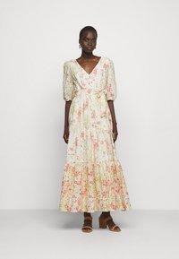 Lauren Ralph Lauren - VOILE DRESS - Day dress - col cream/coral - 0