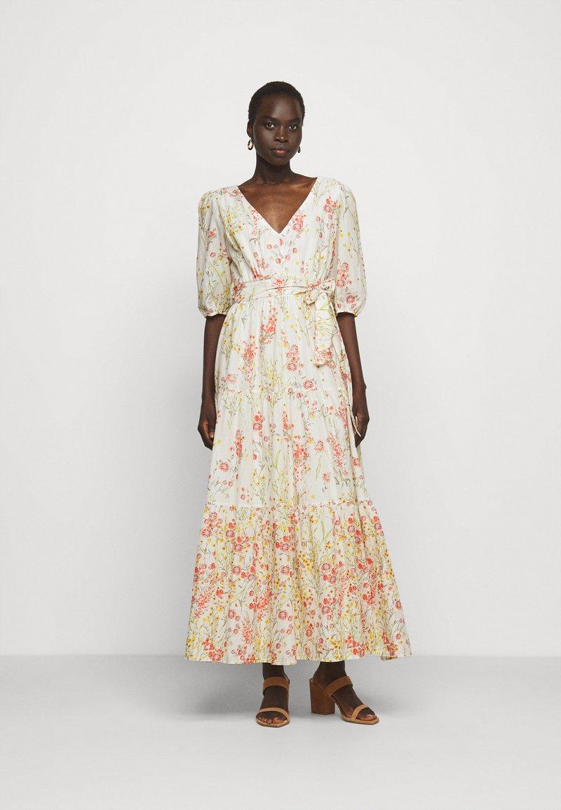 Lauren Ralph Lauren - VOILE DRESS - Day dress - col cream/coral