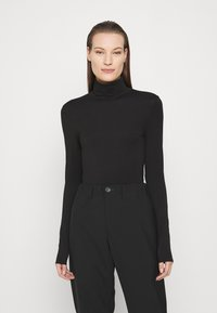 ARKET - TURTLENECK - Long sleeved top - black dark - 0