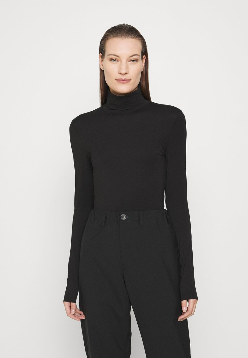 ARKET - TURTLENECK - Long sleeved top - black dark