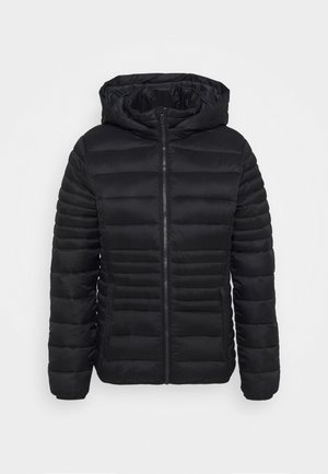WOMAN JACKET SNAPS HOOD - Winter jacket - nero