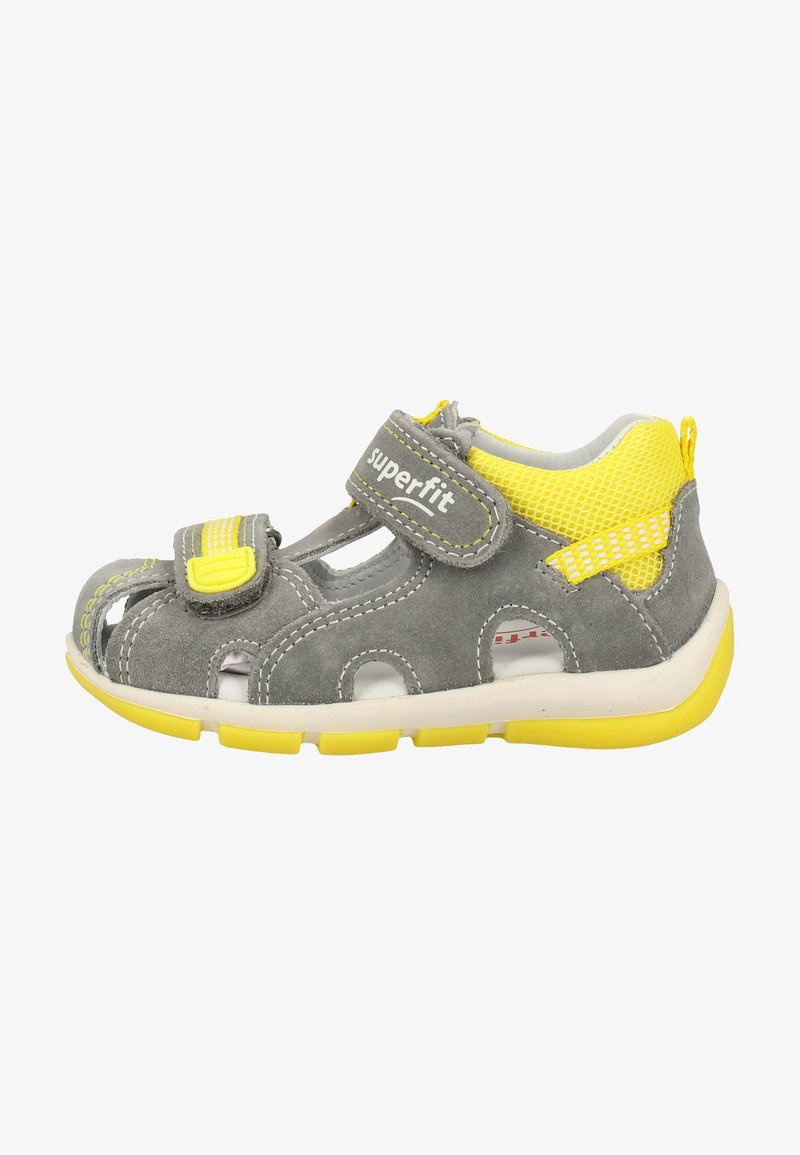 Superfit - Baby shoes - grey/yellow
