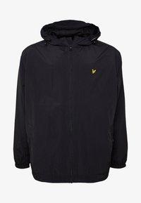PLUS ZIP THROUGH HOODED JACKET - Summer jacket - black