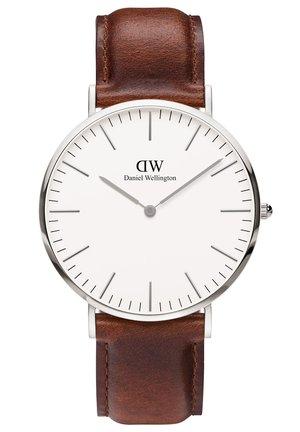CLASSIC ST MAWES 36MM - Zegarek - silberfarben/braun