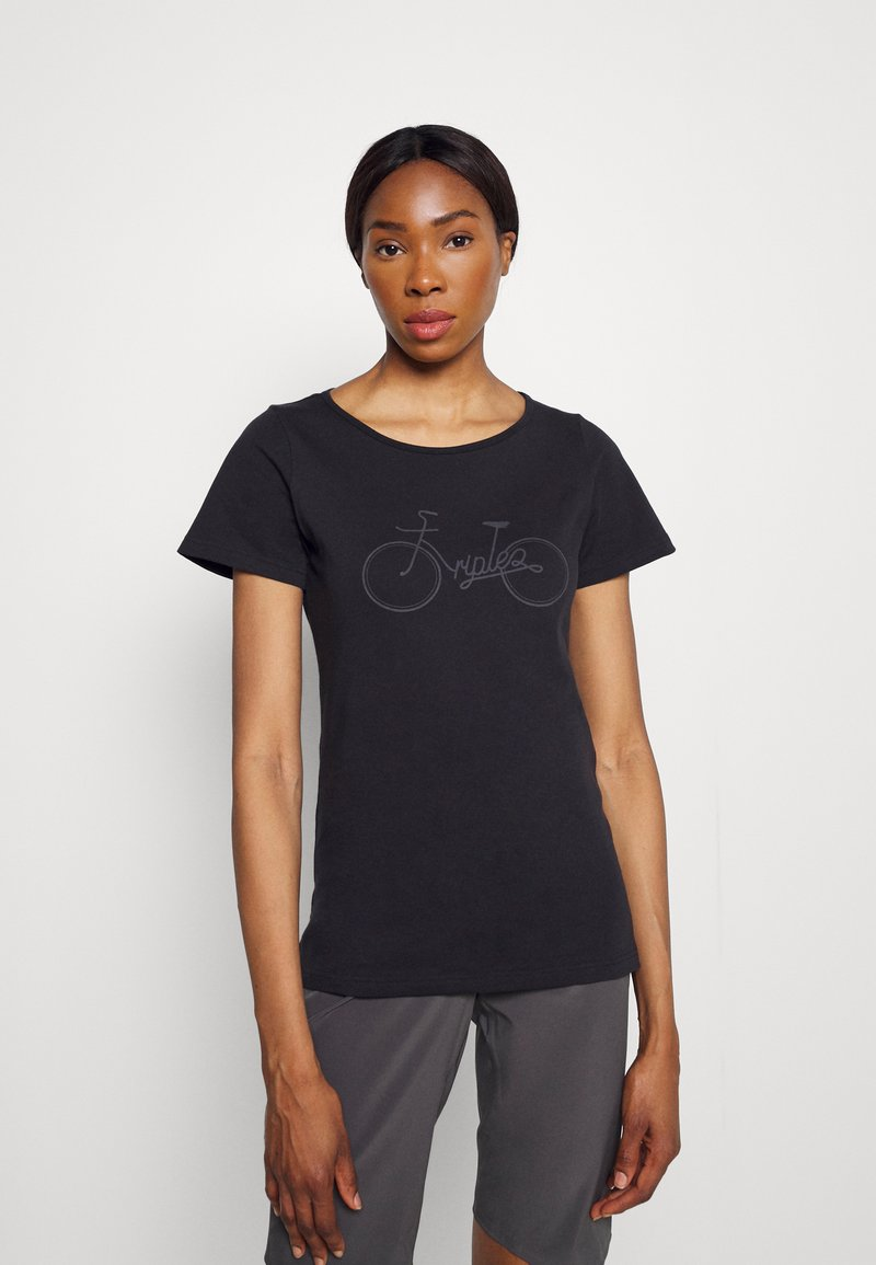 Triple2 - TUUR EEN BIKE - T-shirt print - anthracite