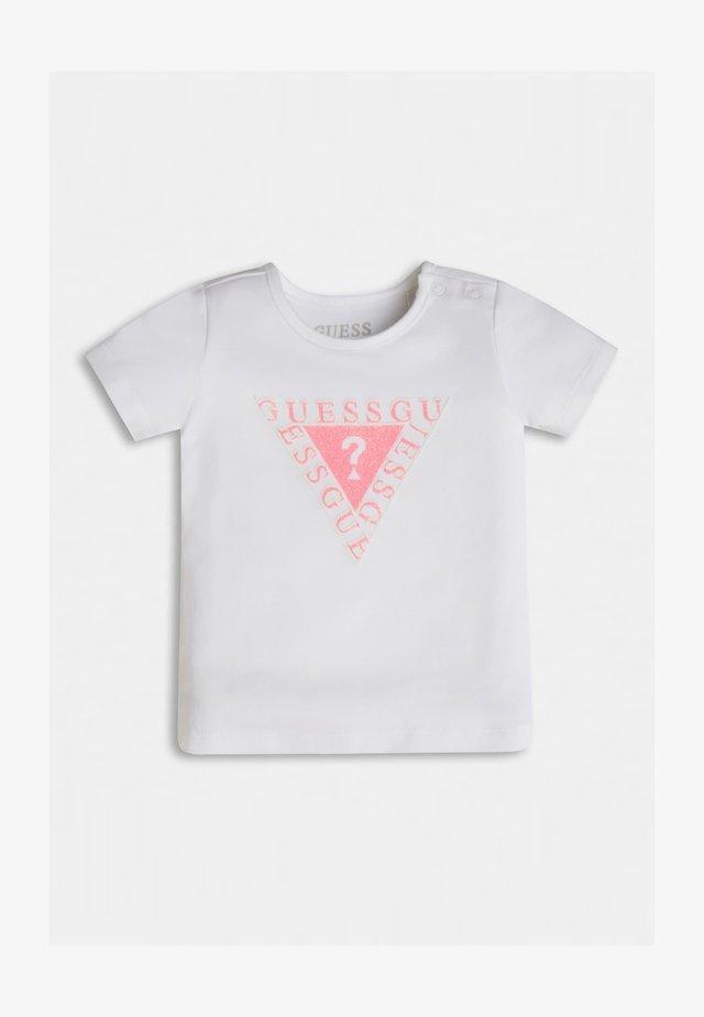 LOGODREICK GLITZER - T-shirt con stampa - weiß