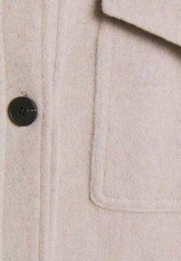DESIGNERS REMIX - CARPI SHIRT JACKET - Classic coat - beige - 2
