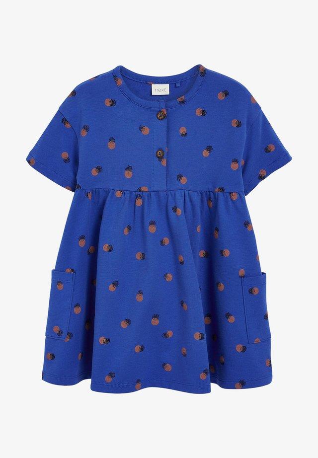 Korte jurk - blue grey