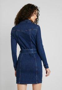 Vero Moda - VMTARA SHORT DRESS - Denim dress - dark blue denim - 3