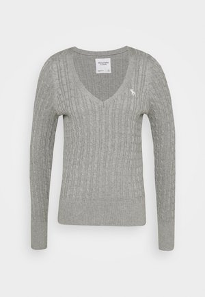 ICON CABLE VNECK - Jumper - light grey