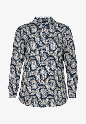 MIT PAISLEYPRINT - Long sleeved top - strong blue