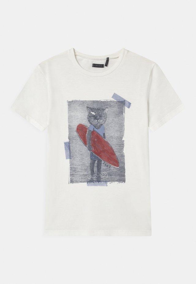 T-shirt print - blanc cassé