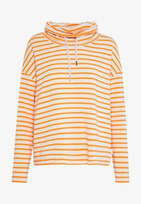 TUBE NECK STRIPED RELAX FIT DRAWSTRING DETAIL - Long sleeved top - multi