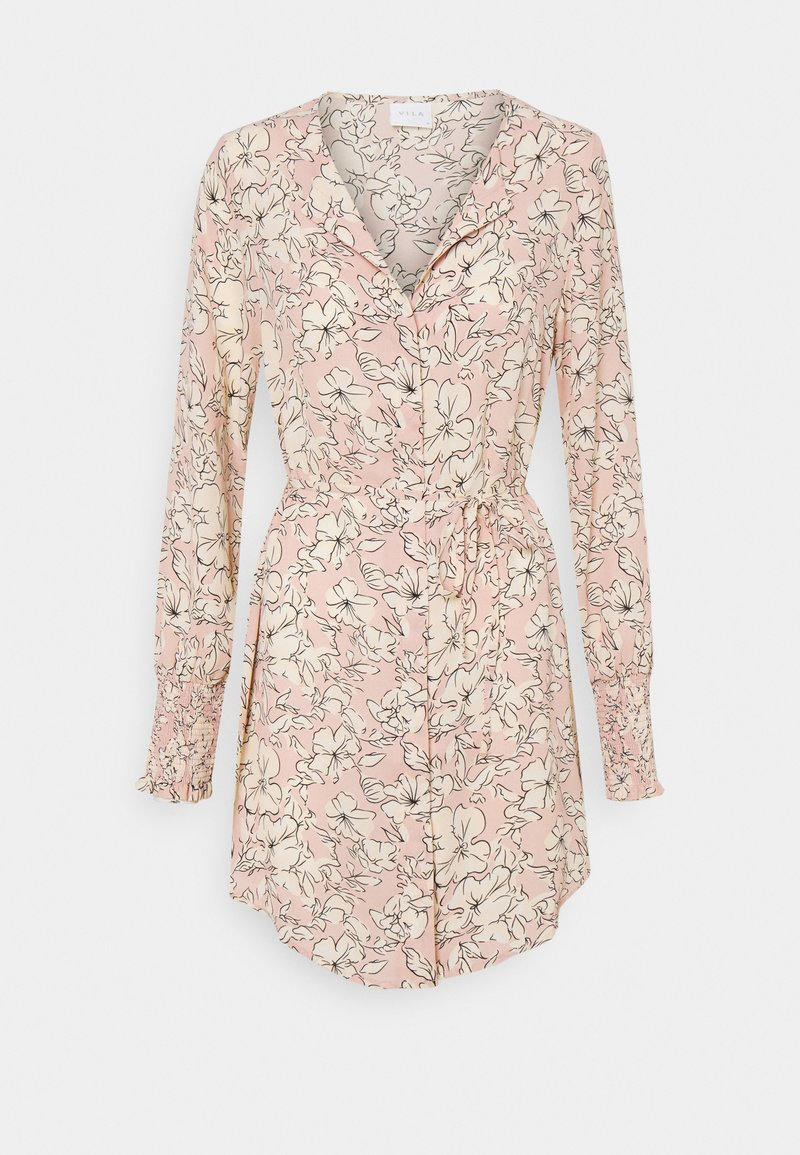 Vila - VIDOTTIES NEW TUNIC DRESS - Shirt dress - misty rose/white