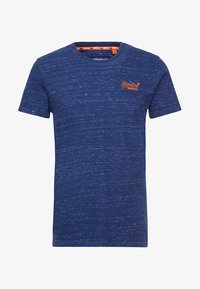 Superdry - ORANGE LABEL VINTAGE EMBROIDERY TEE - Basic T-shirt - faux indigo space dye - 3