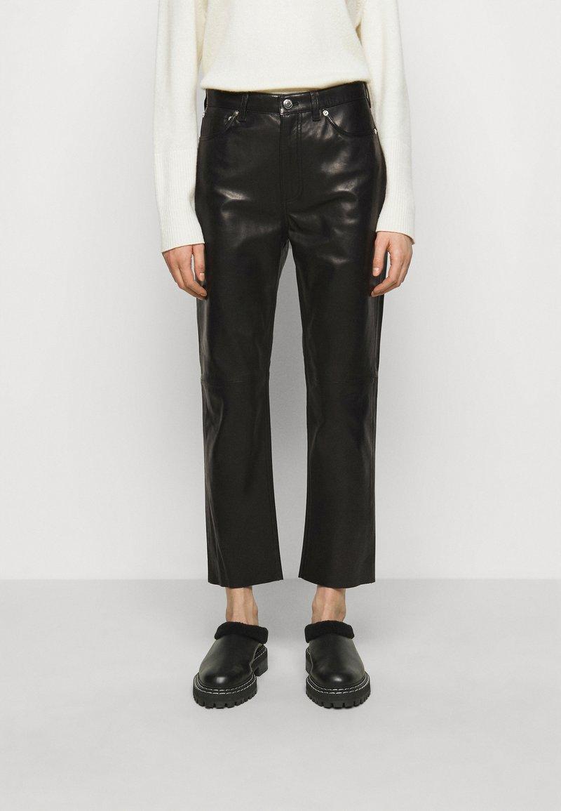 Iro - GNEISS TROUSERS - Spodnie skórzane - black